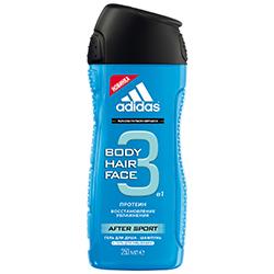 ADIDAS Шампунь и гель для душа After Sport 250 мл marlies moller energy шампунь укрепляющий для мужчин energy шампунь укрепляющий для мужчин