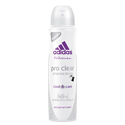 ADIDAS Дезодорант-антиперспирант Pro Clear 150 мл