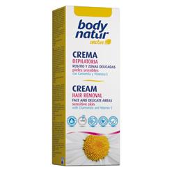 BODY NATUR Крем для депиляции для лица и деликатных зон с Ромашкой и Витамином Е 50 мл