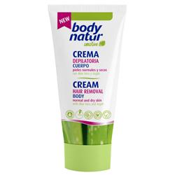 BODY NATUR Крем для депиляции для тела для нормальной и сухой кожи с Алоэ и Арганом 100 мл