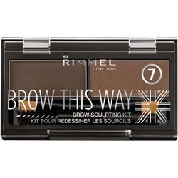 Купить со скидкой RIMMEL Тени для бровей Brow This Way № 002 средне-коричневый
