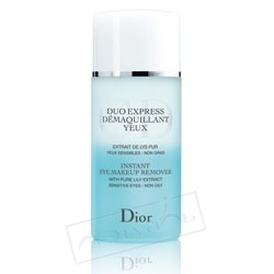 DIOR ���������� �������� ��� ����������� ������ ������� � ���� � ���������� ������ ����� Duo Express Demaquillant Yeux 125 ��
