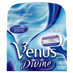 GILLETTE Сменные кассеты для бритья Venus Divine
