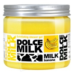 DOLCE MILK Гель-скраб для душа Молоко и Банан 400 мл