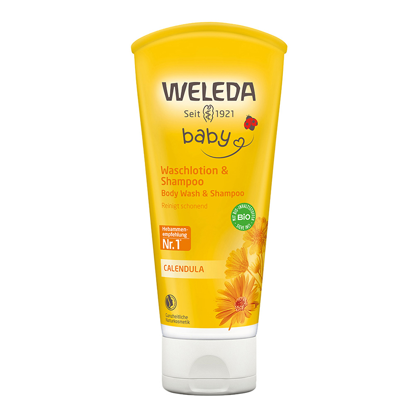 WELEDA Детский шампунь-гель для волос и тела Calendula.
