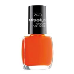 MISSLYN Лак с леденцовым блеском Lolligloss nail polish № 749 Aranciata, 10 мл