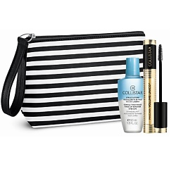 COLLISTAR набор тушь для ресниц Volume Unico + средство для снятия макияжа + косметичка Чёрная + 50 мл