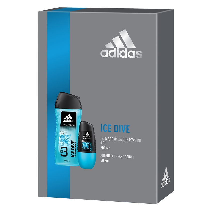 ADIDAS Подарочный набор для мужчин Ice Dive