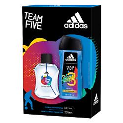 ADIDAS Подарочный набор Team Five Лосьон после бритья 50 мл + гель для душа 250 мл