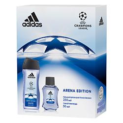 ADIDAS Набор мужской Champion League III Arena Edition Туалетная вода, спрей 50 мл + гель для душа 250 мл