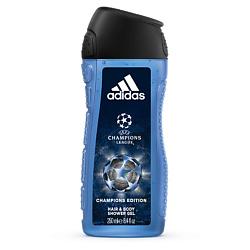 Купить ADIDAS Гель для душа для тела и волос для мужчин UEFA Champions League Champions Edition 250 мл