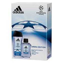 ADIDAS Подарочный набор Champion League III Arena Edition Туалетная вода, спрей 100 мл + гель для душа 250 мл