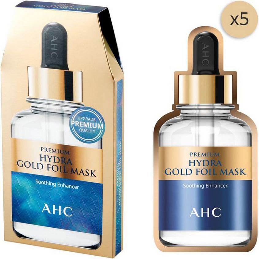 AHC Premium Mask маска для лица целлюлозная со слоем золотой фольги