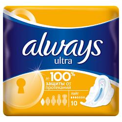 ALWAYS Ultra Женские гигиенические прокладки ароматизированные Light Single 10 шт.