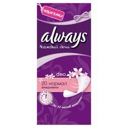 ALWAYS Ежедневные гигиенические прокладки ароматизированные Каждый день Нормал Фреш Single 20 шт.