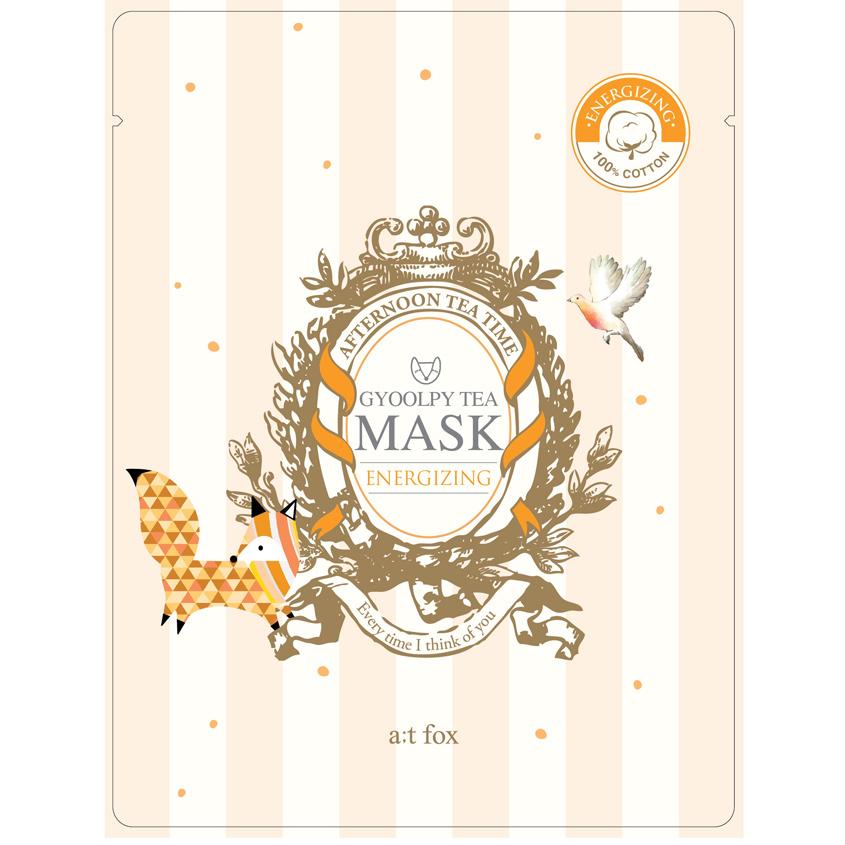 A;T FOX Маска для лица, наполняющая кожу энергией GYOOLPY TEA