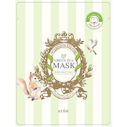 A;T FOX Маска для лица, поддерживающая гидро-липидный баланс кожи GREEN TEA 20 мл tm chocolatte биотоник для лица аква баланс с пребиотиками 100 мл