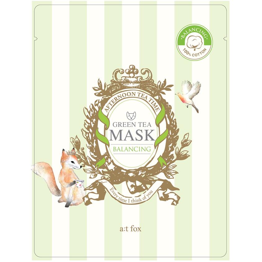 A;T FOX Маска для лица, поддерживающая гидро-липидный баланс кожи GREEN TEA