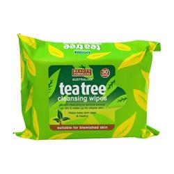 BEAUTY FORMULAS Салфетки очищающие Чайное дерево 30 шт.