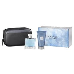 AZZARO Подарочный набор CHROME Косметичка + туалетная вода, спрей 30 мл + шампунь для волос и тела 50 мл