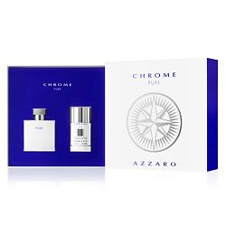 AZZARO AZZARO Набор Chrome Pure Туалетная вода, спрей 50 мл + Дезодорант-стик 75 мл дезодорант стик cedrat 75 мл