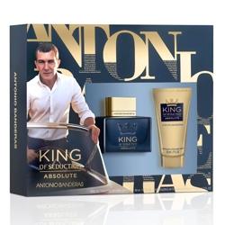 ANTONIO BANDERAS Подарочный набор King of Seduction Absolute Туалетная вода, спрей 50 мл + Бальзам после бритья 50 мл