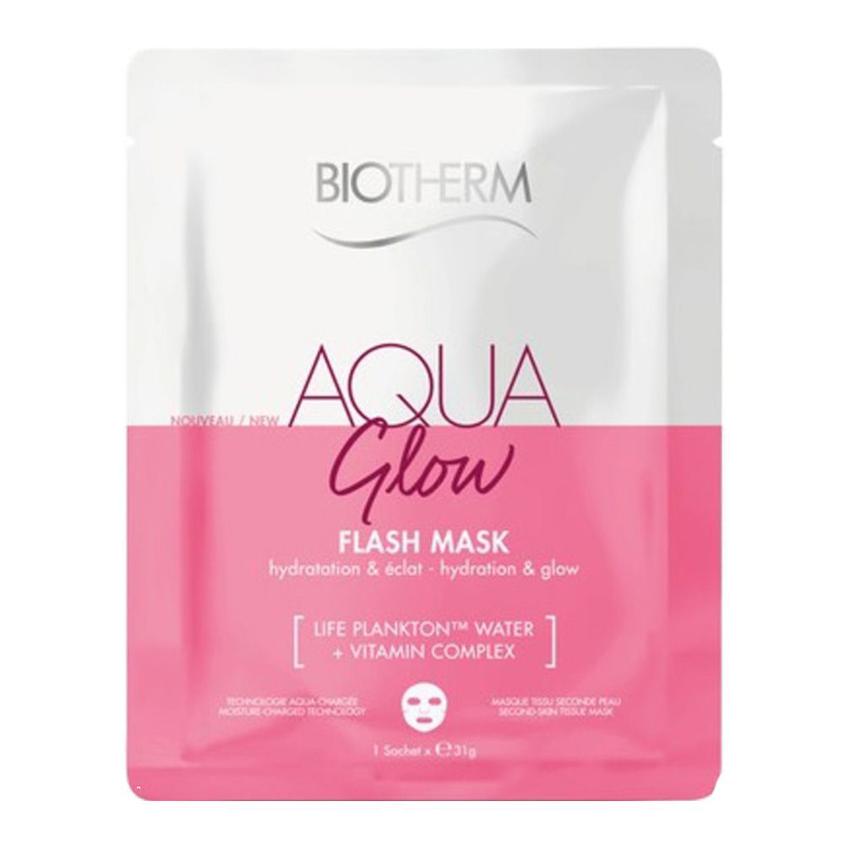 BIOTHERM Тканевая маска для лица Увлажнение и Сияние Aqua Glow Flash Mask.