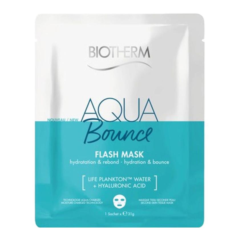 BIOTHERM Тканевая маска для лица Увлажнение и Упругость Aqua Bounce Flash Mask.