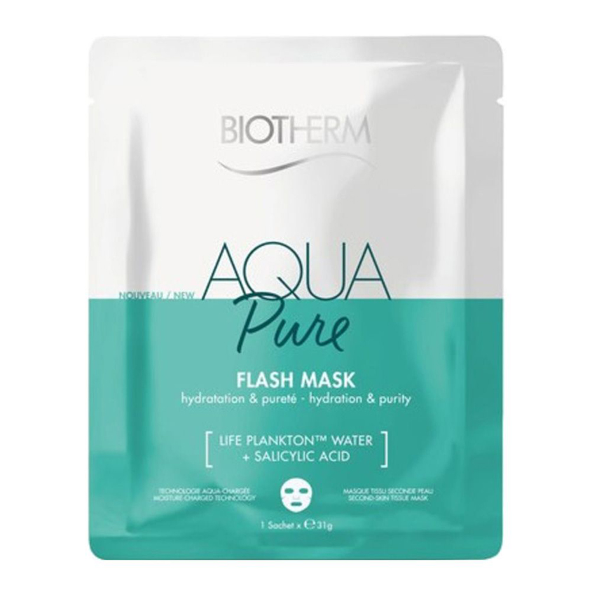 BIOTHERM Тканевая маска для лица Увлажнение и Очищение Aqua Pure Flash Mask.
