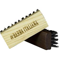 BARBA ITALIANA Щётка для усов и бороды Соленго тёмная dear beard щетка из древесины венге для усов и бороды 8 4 см