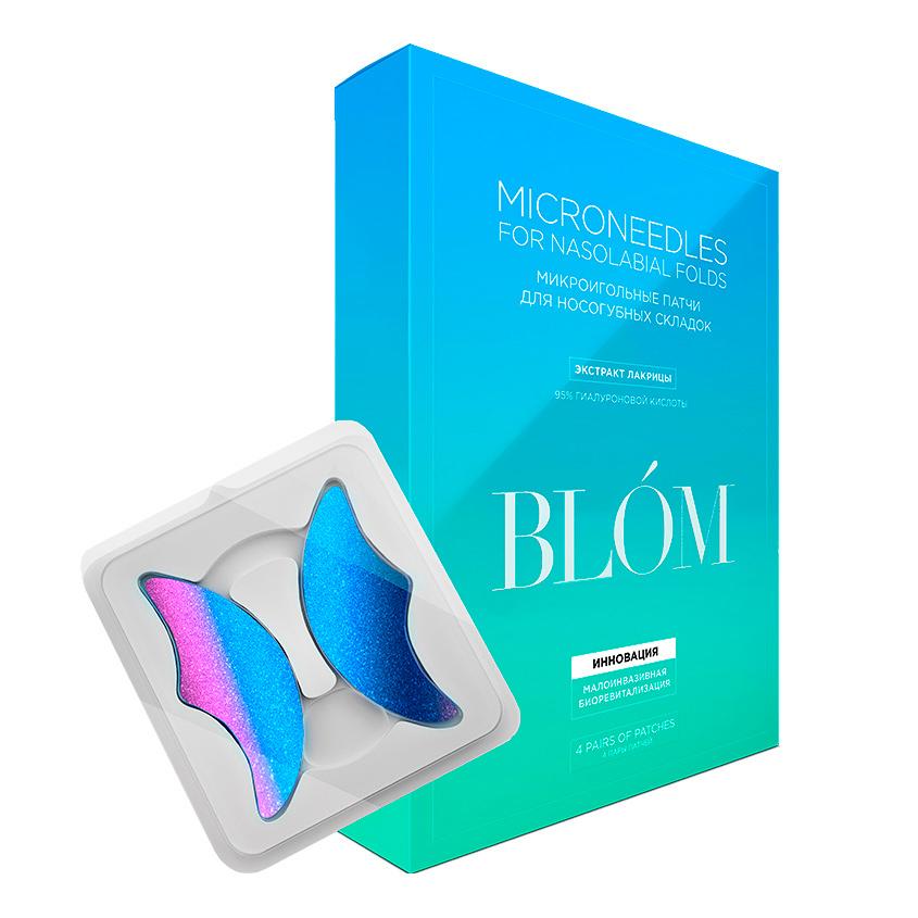 """BLOM Микроигольные патчи """"Лакрица"""" для носогубных складок"""