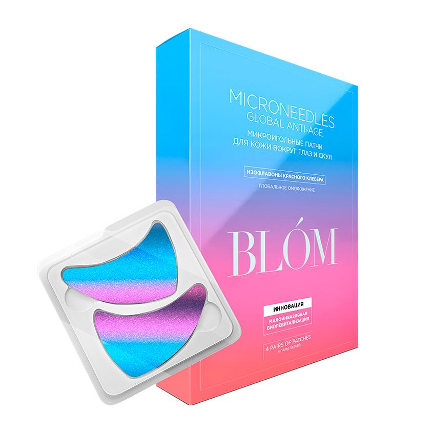 BLOM Микроигольные патчи Global Anti-Age с экстрактом красного клевера для омоложения кожи