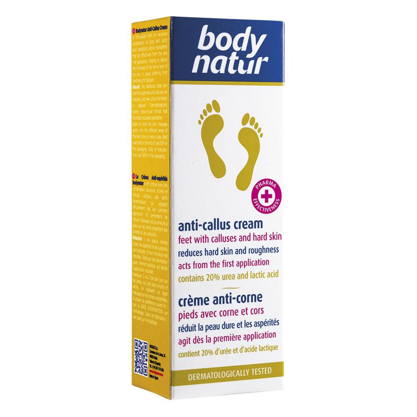 BODY NATUR Крем для ног антимозольный для грубой и жесткой кожи стоп