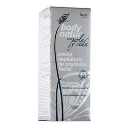 BODY NATUR Крем для депиляции для лица с экстрактом Шелка и Жемчуга 15 мл + саше/уход после эпиляции