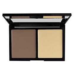 BRONX COLORS Палетка для контуринга Contouring 2go TAUPE / LIGHT NEUTRAL, 8 г bronx colors бронзирующая пудра studioline light 6 г