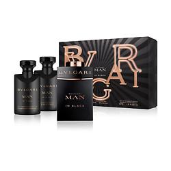 BVLGARI Подарочный набор Bvlgari Man In Black Парфюмерная вода, спрей 60 мл + Бальзам после бритья 40 мл + Гель для душа 40 мл