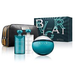Купить BVLGARI Подарочный набор Aqva Pour Homme Туалетная вода, спрей 100 мл + Бальзам после бритья 75 мл + Гель для душа 75 мл + Косметичка