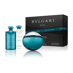 BVLGARI Подарочный набор Aqva pour Homme Туалетная вода, спрей 50 мл + Бальзам после бритья 40 мл + Гель для душа 40 мл