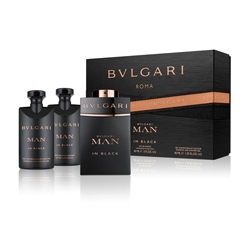 BVLGARI Подарочный набор Man In Black Парфюмерная вода,спрей 60 мл + Бальзам после бритья 40 мл + Гель для душа 40 мл