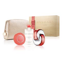 BVLGARI Подарочный набор Omnia Coral Туалетная вода, спрей 65 мл + Лосьон для тела 75 мл + Парфюмированное мыло 75 г + Косметичка