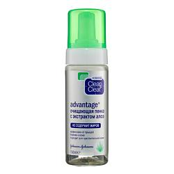CLEAN  CLEAR Очищающая пенка с экстрактом алоэ 150 мл