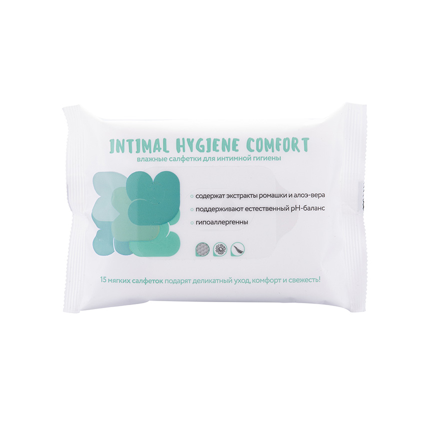 LOREN COSMETIC Влажные салфетки для интимной гигиены INTIMAL HYGIENE COMFORT