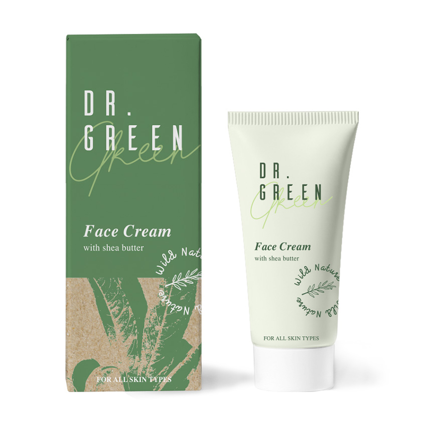 Купить WILD NATURE Крем для лица с маслом Ши Dr. Green