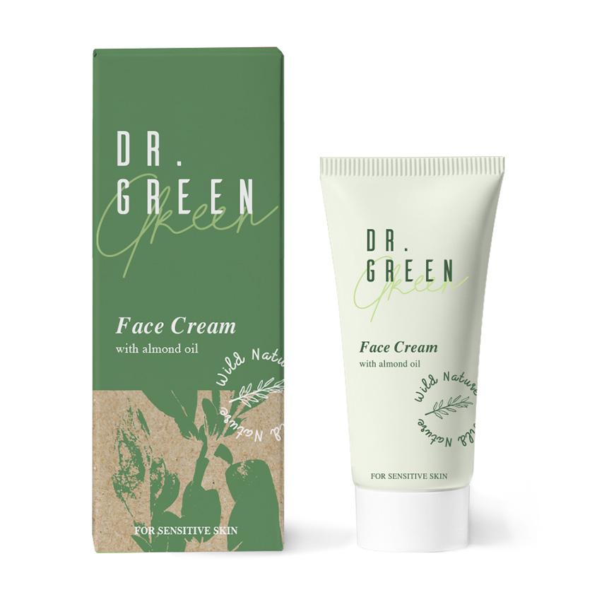 Купить WILD NATURE Крем для лица с маслом миндаля Dr. Green