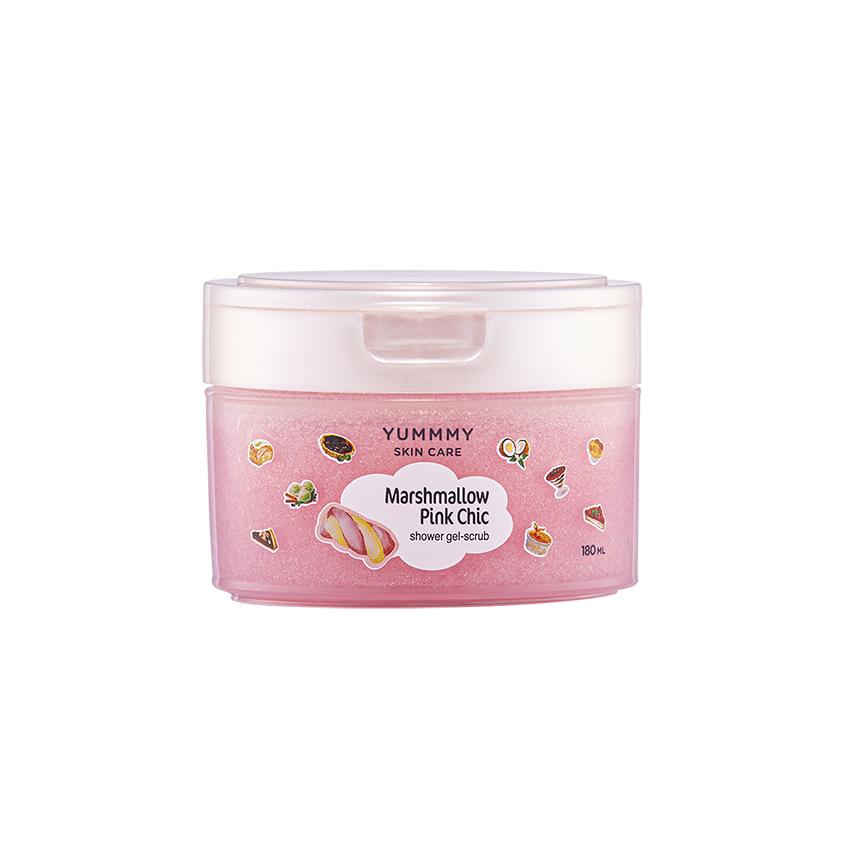 YUMMMY Гель-скраб для душа МАРШМЕЛЛОУ розовый шик