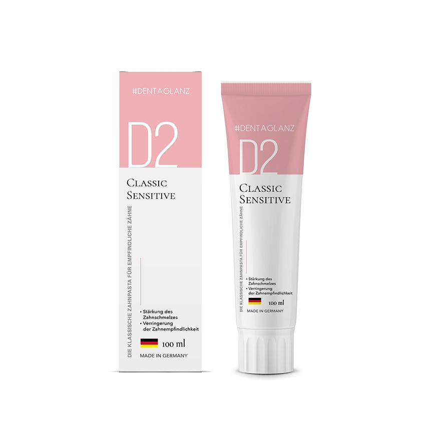 #DENTAGLANZ Зубная паста D2 Classic Sensitive