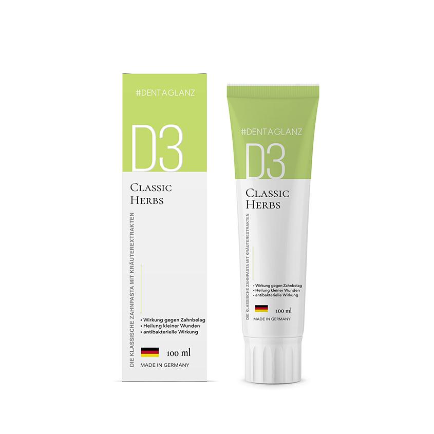 #DENTAGLANZ Зубная паста D3 Classic Herbs