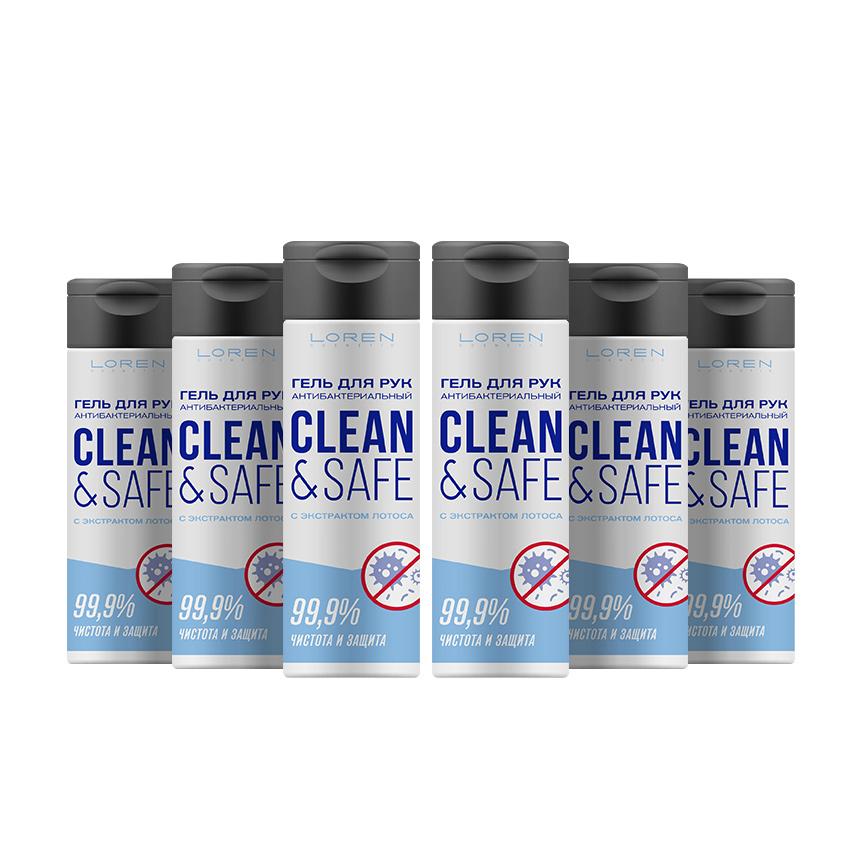 LOREN COSMETIC Набор антибактериальных гелей для рук Clean&Safe Чистота Лотоса