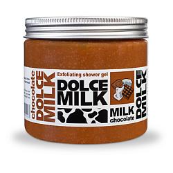 DOLCE MILK Гель-скраб для душа Молоко и Шоколад 400 мл