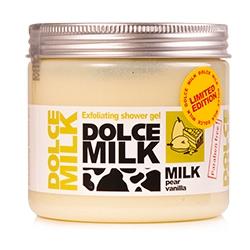 DOLCE MILK Гель-скраб для душа Молоко и грушевый тарт с ванилью 400 мл